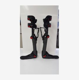 view of a pair of knee ankle foot braces