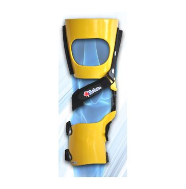 yellow brace with single strap in front